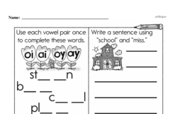 Free First Grade Subtraction PDF Worksheets Worksheet #37