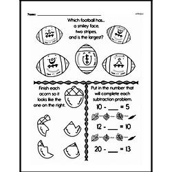 Free First Grade Subtraction PDF Worksheets Worksheet #33