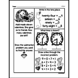 Free First Grade Subtraction PDF Worksheets Worksheet #8