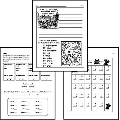 Subtraction - Subtraction within 20 Workbook (all teacher worksheets - large PDF)
