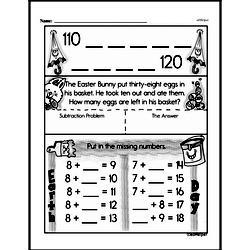 Free First Grade Subtraction PDF Worksheets Worksheet #8
