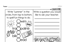 Free First Grade Subtraction PDF Worksheets Worksheet #19