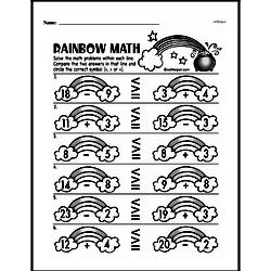 First Grade Subtraction Worksheets Worksheet #95