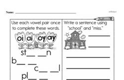 First Grade Subtraction Worksheets Worksheet #87
