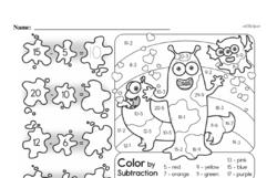 First Grade Subtraction Worksheets Worksheet #70