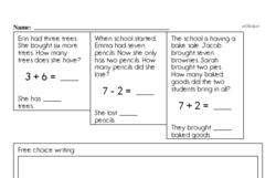 First Grade Subtraction Worksheets Worksheet #5