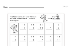 Subtraction Worksheets - Free Printable Math PDFs Worksheet #185