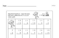 First Grade Subtraction Worksheets Worksheet #60