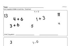 First Grade Subtraction Worksheets Worksheet #8