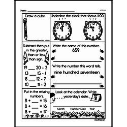 First Grade Time Worksheets Worksheet #3