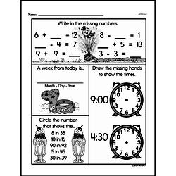 First Grade Time Worksheets Worksheet #8
