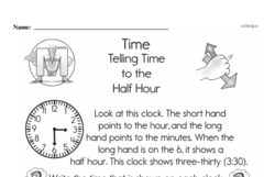 First Grade Time Worksheets Worksheet #2