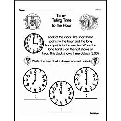 First Grade Time Worksheets Worksheet #1