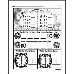 First Grade Time Worksheets Worksheet #16