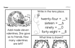 First Grade Time Worksheets Worksheet #27
