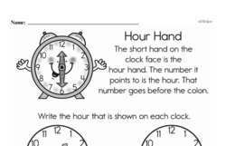 First Grade Time Worksheets Worksheet #12