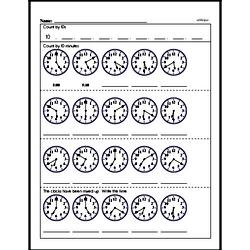 First Grade Time Worksheets Worksheet #30