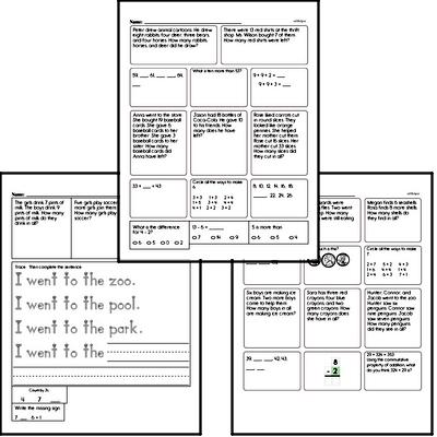 First Grade Word Problems Challenge Book