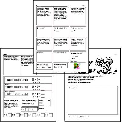 Free First Grade Word Problems PDF Worksheets | edHelper com