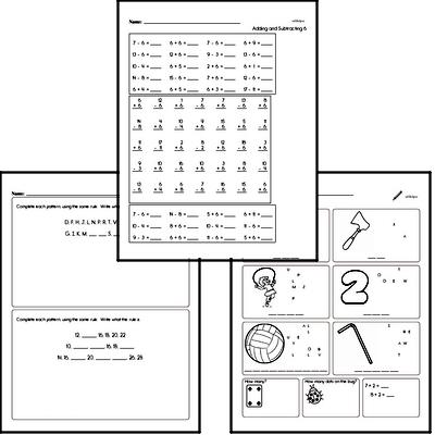 April Fun Packets - Small 5-7 Page Worksheets<BR>Use for homework, in the classroom, or for fast finishers.