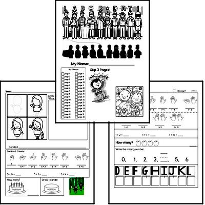 First Grade Back to School Activity Book #1