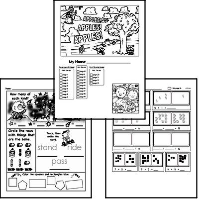 First Grade Back to School Activity Book #2
