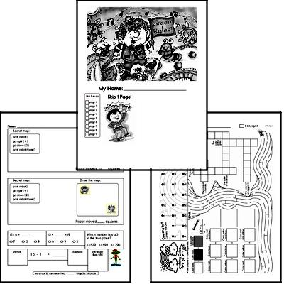 March Fun Packets - Small 5-7 Page Worksheets<BR>Use for homework, in the classroom, or for fast finishers.
