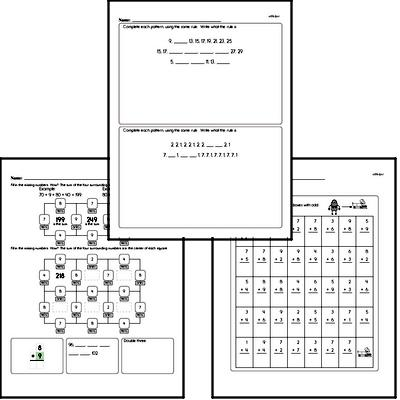 Math Puzzle Worksheets for First Graders - Large Workbook of Math Puzzle Worksheets