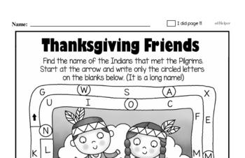 First Grade Thanksgiving Math Challenge Workbook