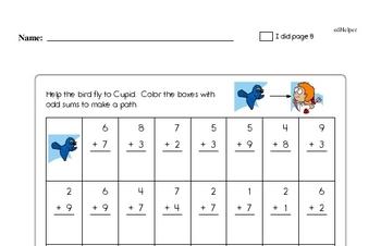 Valentine's Day Math Challenge Workbook (more math, little more difficult)