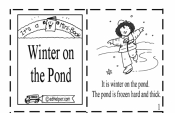winter Mini Book Winter PDF file teacher worksheet prev24