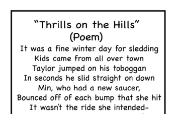 Thrills On the Hills Poem and Activity Book