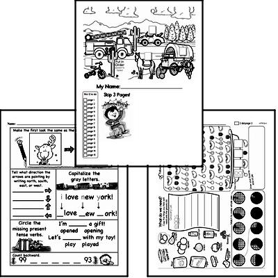 First Grade Winter Activity Book for Start of December