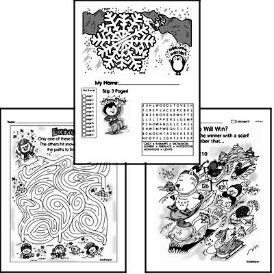 winter activity worksheets for december book2 grade1
