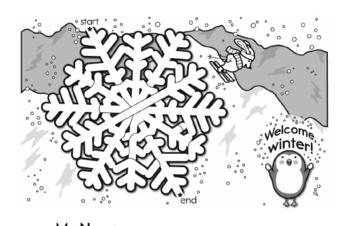 First Grade Winter Activity Book for December