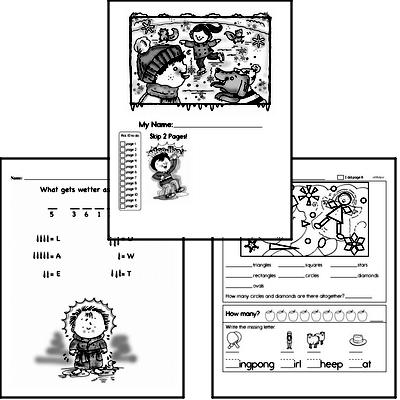 First Grade Winter Activity Book for January
