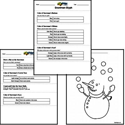 Winter Glyph Activity Worksheets