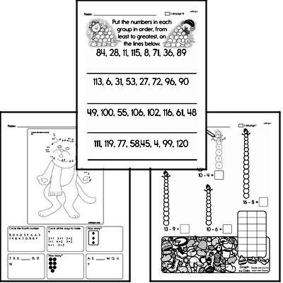 First Grade Winter Math Challenge Workbook