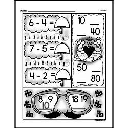 Addition - Addition with Decimal Numbers Mixed Math PDF Workbook for Second Graders