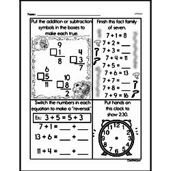 Free Second Grade Addition PDF Worksheets Worksheet #37