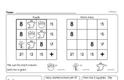 Free 2.OA.B.2 Common Core PDF Math Worksheets Worksheet #1