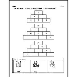 Free Second Grade Addition PDF Worksheets Worksheet #4