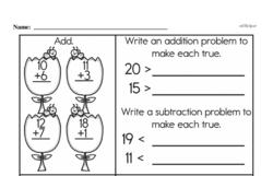 Free Second Grade Addition PDF Worksheets Worksheet #43