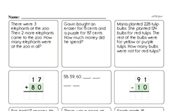 Free Second Grade Addition PDF Worksheets Worksheet #11