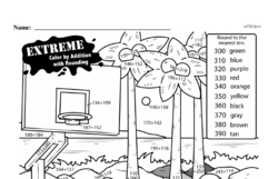 Addition - Three-Digit Addition Mixed Math PDF Workbook for Second Graders