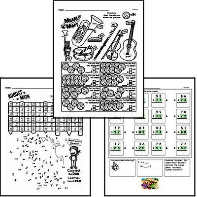 Addition - Two-Digit Addition Workbook (all teacher worksheets - large PDF)