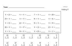 Practice adding 2-digit numbers.
