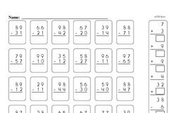 Free Second Grade Addition PDF Worksheets Worksheet #3