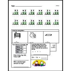 Free Second Grade Addition PDF Worksheets Worksheet #6
