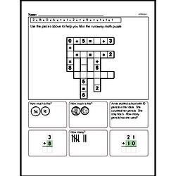 Addition Math Puzzle - Fill in the missing numbers to complete the addition puzzle.